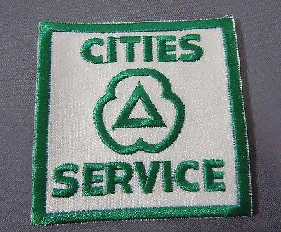 """CITIES SERVICE Embroidered Iron On Uniform-Jacket Patch 2 1/2"""""""