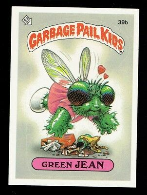 GARBAGE PAIL KIDS: 1ST SERIES, GREAN JEAN, 39b, MATTE, NM, USA, SERIES 1