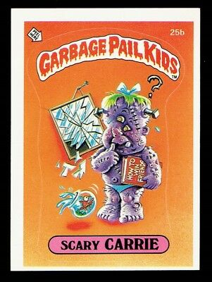 GARBAGE PAIL KIDS: 1ST SERIES, SCARY CARRIE, 25b, MATTE, NM-, USA