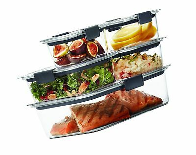 Rubbermaid Brilliance Food Storage Container Set 22 Piece Clear Amazing RUBBERMAID BRILLIANCE 60PIECE Food Storage Container Set 6060