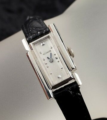 14k White Gold Women's Vintage Le Coultre Art Deco Hand-Winding Watch