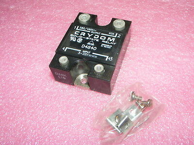One New Crydom Solid State Relay D4840 3-32Vdc 480Vac 40A