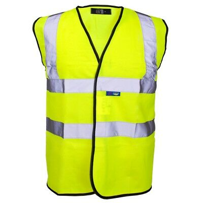 Supertouch Hi-Vis Vest Yellow / Black Piping