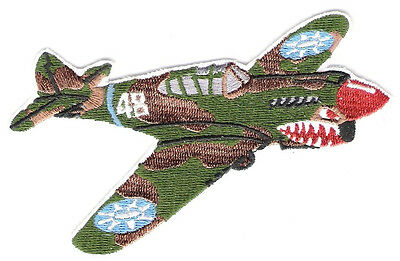 P40 FLYING TIGER Airplane Aircraft Aviation Collectable Military Patch Camo