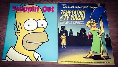 The Simpsons Magazine Lot Homer Simpson Steppin Out Marge Simpson Washing Post