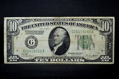 1928-B $10 Federal Reserve Note ✪ Vf Very Fine ✪ G Chicago L@@k 060 ◢Trusted◣