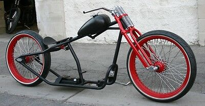 2018 Custom Built Motorcycles Bobber  MMW SCHWINN STYLE  23,23 BOARDTRACK RACER WITH WIRE WHEELS AND HOOP SPRINGER