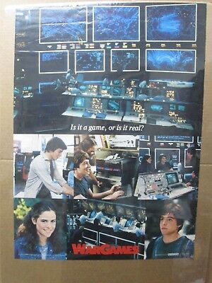 Vintage Poster WarGame Mathew Broderick Movie 1983 Inv#366