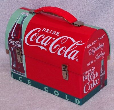 """Retro Design - """"drink Coca-Cola Ice Cold"""" Workmans Carry-All Lunch Box - New!"""