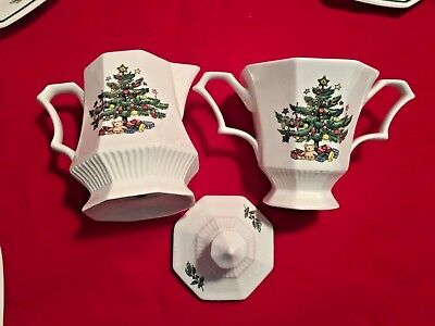 Nikko Classic Collection Christmastime 11 Piece Octagonal Tea Set Made In Japan