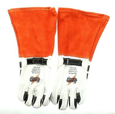 Power Gripz TPG-016 Lineman Standard High Voltage Leather Protector Gloves, 16""