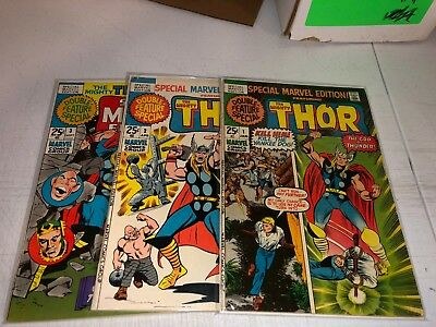 Special Marvel Edition #1 2 3 Featuring Thor (Marvel 1971)