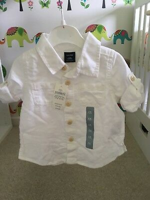 Baby Gap Boy 3-6 Months Chino SHIRT - NEW with Tags £14.95 - Buy Now £5