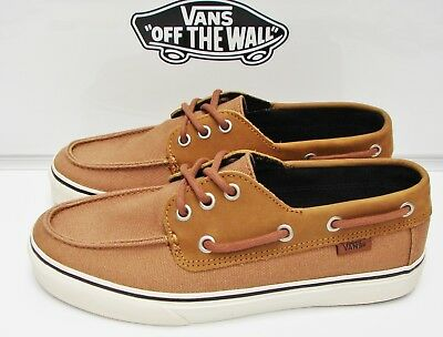 VANS CHAUFFEUR SF C l Khaki Chambray Athletic Skate Casual Men s ... ced746113