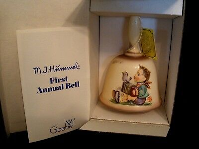 VINTAGE M.J.HUMMEL~GOEBEL~1ST EDITION ANNUAL BELL IN bas-relief~1978~NEW GERMANY