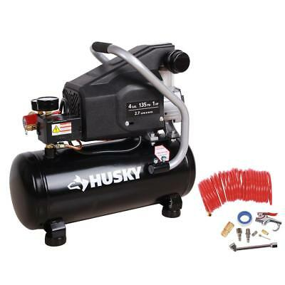 Husky 4 Gal. Portable Electric-Powered Air Compressor  BS1004W