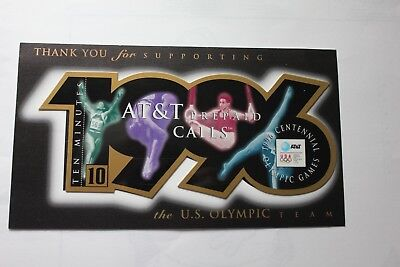 US Olympic/Sports 1996 Prepaid Phone Card Collectible - (no phone calling value)