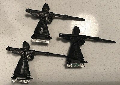 3 x Warhammer Fantasy Battle High Elf Front rank spearman metal Games Workshop B