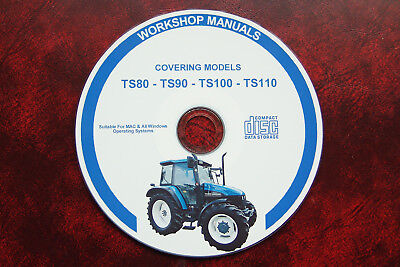 New Holland Ts80 Ts90 Ts100 Ts110 Tractor Workshop Service Repair Shop Manual
