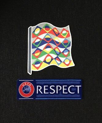UEFA Nations League 2018 & RESPECT Sleeve Patches/Badges EURO 2020