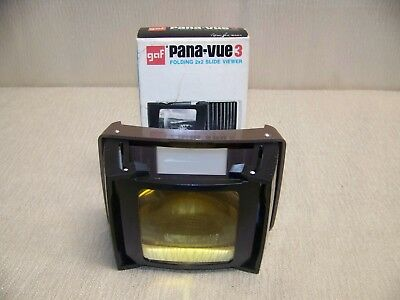 Vintage GAF Pana-Vue 3 Folding 2 X 2 Slide Viewer With Original Box