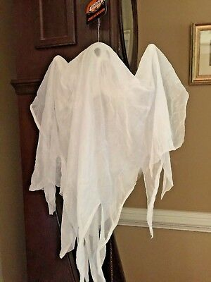 Hanging 18 Inches Tall White Ghost Halloween Prop