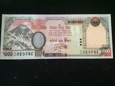 NEPAL EVEREST Rs 1000 set of  2 with n w//out FLOWER print P-67,68 sign#16,17 UNC