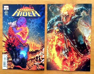 Cosmic Ghost Rider 4 Cover A + Maxx Lim Variant Marvel Battle Lines Cover NM+