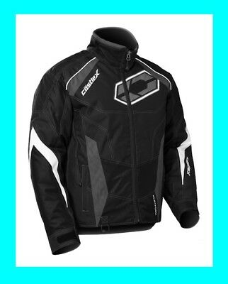 Castle X Men's Jacket Platform G5 Snowmobile Winter Riding Racing Coat Black