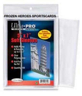 ULTRA PRO CARD SLEEVES 5x7 (100 PER PKG)**COMBINED SHIPPING*DISCOUNTS*