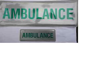 AMBULANCE badge (pair), reflective, sew-on, small and large