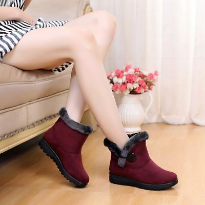Winter Boots Women Ankle Shoes Casual Fashion Black Red Brown Warm Snow Boots