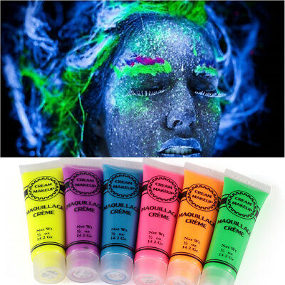 Glow in The Dark Face Tattoo Artistic Makeup Body Paint Pigments Fluorescence
