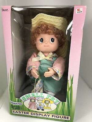 Vintage Telco Small Fry Easter Display Figure Box  Boy With Straw Hat 1994 90s