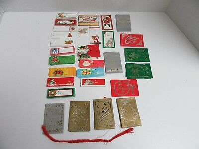 Huge Lot Over 250+ Vintage Christmas Gift Tags Cards