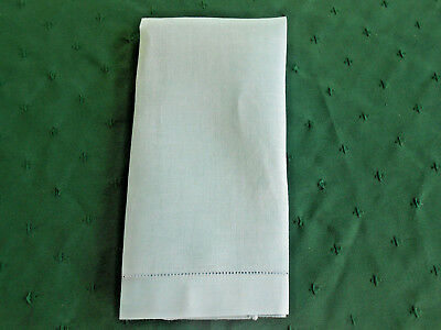 Blue Linen Towel With An Open Embroidered Hem, Circa 1920