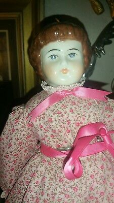 Antique porcelain head Doll from  Late 1800s