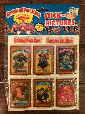 1986 Imperial Topps GARBAGE PAIL KIDS Stick-On Pictures PUFFY STICKERS #9, NEW!