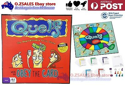 Quelf Board Game Adults Home Party Playing Game Spin Funny Game Set