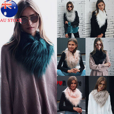 Fashion Women Faux Fur Scarf Shawl Collar Stole Cape Scarves Winter Scarf Wrap