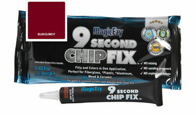 MagicEzy 9 Second Chip Fix: Fill & Color Gelcoat  Damage Fast (Burgundy)