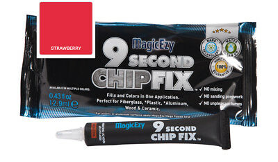 MagicEzy 9 Second Chip Fix: Fill & Color Gelcoat  Damage Fast  (Strawberry)