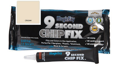 MagicEzy 9 Second Chip Fix: Fill & Color Gelcoat  Damage Fast (Cream)
