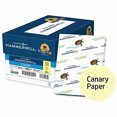 Hammermill Colored Paper, Canary Printer Paper, 24lb, 8.5x11 Paper, Letter Size,