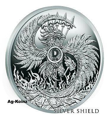 1 oz 2018 Mark of the Beast BU - Death of the Dollar #13 Silver Shield 999 AG