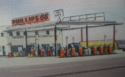 Snyder, TX. Scurry Co. McCormick PHILLIPS 66 Super Station. c.1950. Nice ! NoRsv