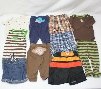 Carter's Baby Boy Clothes Size 9m HUGE LOT 9 months 10 PIECES  Dogs camping EUC