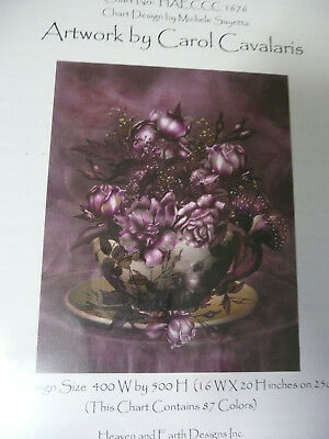 Heaven and Earth Designs Counted Cross Stitch Chart / Pattern -Tea and Roses