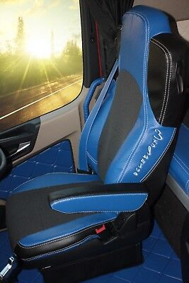 TRUCK SEAT COVERS MERCEDES Set Of Seats Covers For Mercedes Actros MP4 Blue