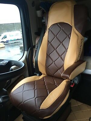 TRUCK SEAT COVERS MERCEDES Seats Covers For Mercedes Actros MP4 toffi & brown